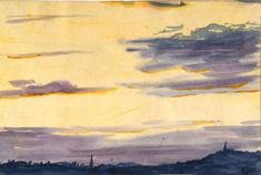 BRIGHT EVENING by WILLIAM LIONEL WYLLIE Original Artwork, Sunrise, Bright, Landscape, The Originals, Drawings, Artist, Painting, Sketches