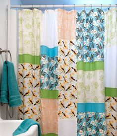 Must make! Only I need two for my clawfoot tub circle shower. Shower Curtain - DIY Patchwork Projects