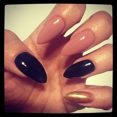 stilleto nails. Hate the shape love the color