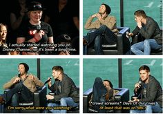 [SET OF GIFS] Jared and Jensen convention panel #NerdHQ2013