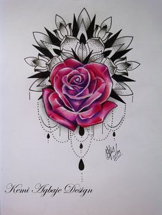 I like the design around the rose. Maybe a more traditional rose though.