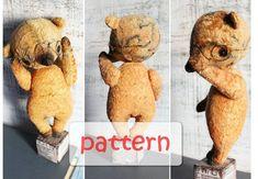 PATTERN for artist bear teddy bear 7.5 inches by HandyHappyTeddy