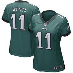 Nike Carson Wentz Philadelphia Eagles Women's Green Game Jersey