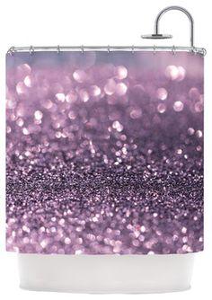 "Debbra Obertanec ""Lavender Sparkle"" Purple Glitter Shower Curtain contemporary-shower-curtains"