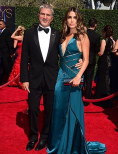 Nikki with her Dad, Seth on the red carpet 16/8/14