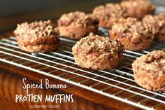 Spiced Banana Protein Muffins- Gluten free, vegan and healthy!