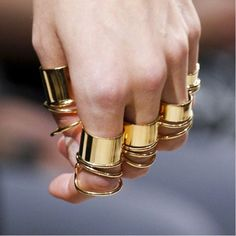 Balenciaga knuckle rings