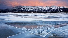 Mount William Booth and Abraham Lake, Alberta,   Canada