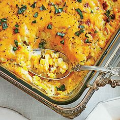 Corn Pudding - Fast & Fresh Corn Recipes - Southern Living - This rich custard will be one of your most request recipes in no time. Take one bite and you'll know why. Best Thanksgiving Side Dishes, Thanksgiving Recipes, Holiday Recipes, Holiday Foods, Fall Recipes, Thanksgiving Baking, Dinner Recipes, Thanksgiving 2016, Pumpkin Recipes