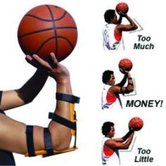 The Bandit Basketball Shooting Aid is a revolutionary basketball shooting accuracy trainer that puts your arm in the proper shooting position every time. It can be worn on either arm to develop right-handed or left-handed shots. It builds muscle memory as Basketball Trainer, Basketball Shooting Drills, Basketball Training Equipment, Sport Basketball, Basketball Tricks, Basketball Practice, Basketball Workouts, Basketball Skills, Basketball Quotes