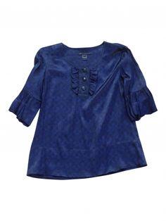 blouse  / Bleu, bleu marine, bleu turquoise / 36 (S, T1) US / Rayon / Toutes saisons