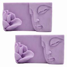 Molde para hacer dos pastillas de jabón Buddha.