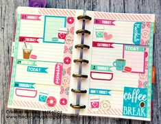 The Cricut Bug: Coffee Themed Mini Happy Planner Pages