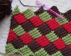 тунисское вязание крючком схемы