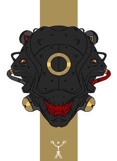 "bonelessnerd: "" cyberclays: ""Helmets - by Fred Augis "" HOT SHIT "" Character Concept, Character Art, Concept Art, Character Design, Cyberpunk Aesthetic, Arte Cyberpunk, Comics Illustration, Illustrations, Helmet Design"