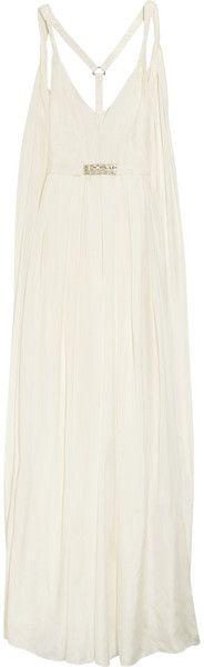 MATTHEW WILLIAMSON Swarovski Crystal-embellished Silk Gown