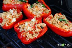 Stuffed Grilled Peppers - Tried and Tasty