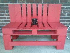 Picture of pallet bench