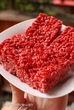 red velvet rice krispy treats. (recipe uses red velvet cake mix.) 1 (10.5 oz) bag of mini marshmallows 3 tablespoons butter 1/2 tsp vanilla 3/4 cup red velvet cake mix 6 cups rice krispies cereal