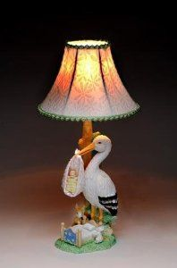 Multi Colored Meticulous Stork Carrying Baby Lamp Includes Shade by ATD. $82.99. This gorgeous Multi Colored Meticulous Stork Carrying Baby Lamp Includes Shade has the finest details and highest quality you will find anywhere! Multi Colored Meticulous Stork Carrying Baby Lamp Includes Shade is truly remarkable.Multi Colored Meticulous Stork Carrying Baby Lamp Includes Shade Details:Condition: Brand NewItem SKU: SS-ATD-31633Dimensions: H: 18 (Inches)