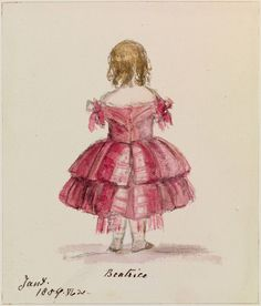 """January 1859 Princess """"Beatrice"""" A lovely water colour study by her mother Queen Victoria. Queen Victoria Family, Queen Victoria Prince Albert, Victoria And Albert, Princesa Beatrice, Victoria's Children, Famous Artists Paintings, Royal Art, Isabel Ii, Save The Queen"""