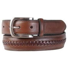 *NWT* Tommy Hilfiger Men/'s Brown Leather Stitch Belt MSRP:$65