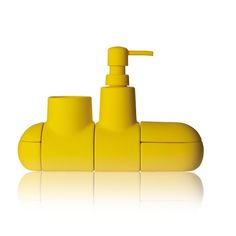 How cute is this yellow submarine #bath set by Hector Serrano for Seletti? Wouldn't it be so cute in a #children's bathroom? It comes in other colors, too.