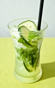 Mint, Basil, Cucumber & Lime Fizz by notwithoutsalt #Beverage #Cucumber #Lime #Mint #Basil