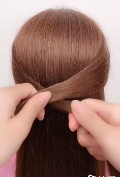 Easy Hairstyles For Long Hair, Braided Hairstyles, Amazing Hairstyles, How To Make Hairstyle, Long Hair Buns, Simple Hair Updos, Short Hair, Cute Bun Hairstyles, Hairstyle Names