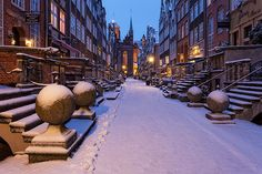 #Winter in #Gdansk -> #Mariacka #Street