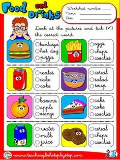 Food and Drinks - Worksheet 3