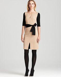 Trina Turk Dress - Derian Solid Ponte | Bloomingdale's