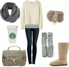 """This starbucks cup in the """"winter fashion"""" picture is the dumbest thing I have seen in a while"""