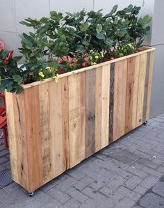 ** LOCAL DELIVERY ONLY - Convo us for free NYC area delivery coupon. ___________________ 30 in x 15 in x 32 in Planter Box, Hand made in Brooklyn from 100% recycled wood shipping pallets. Every piece is unique, color may be slightly different than photos We encourage custom colors, sizes