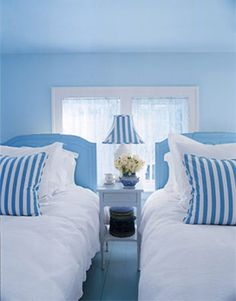 blue bedroom colors for a cozy guest space