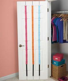 3 Pc Over The Door Purse Organizer Set Hanging Hook Closet Hanger Hat Scarf  Cap