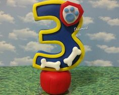 Vela Patrulha Canina Bolo Do Paw Patrol, Paw Patrol Cake, Number Cake Toppers, Number Cakes, Bolo Fack, Birthday Numbers, Cold Porcelain, Beautiful Cakes, Birthday Candles