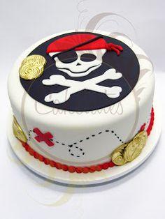 Caketutes Cake Designer: Bolo Pirata - Pirate cake