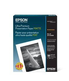Epson Ultra Premium Presentation Paper MATTE (8.5x11 Inches 50 Sheets) (S041341)