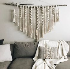 macrame wall hanging @bonfireheart.co