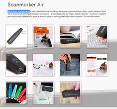 Ruční skener Scanmarker Air je plně vybavený textový bezdrátový skener, pro rozpoznávání textu, který vypadá jako pero. Ruční skener Scanmarker Air funguje stejně jako zvýrazňovač – jednoduše posuňte perem přes tištěné informace v novinách, časopisech nebo třeba ve vaší oblíbené knize a text se okamžitě objeví ve vašem počítači nebo chytrém zařízení s iOS nebo Androidem. Shopping