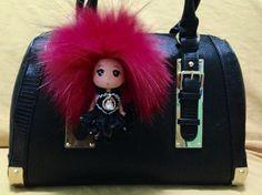 Handmade bag charms    With real fur