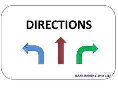 Spanish lesson 103: Give directions - Dar direcciones
