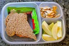 Shredded carrot & cream cheese! Genius! The perfect vegetarian school lunch!