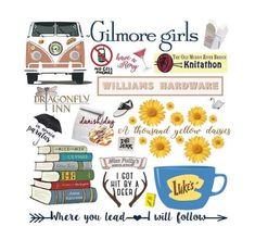 Gilmore Girls Collage by birchandbark Gilmore Girls Tattoo, Gilmore Girls Quotes, Gilmore Girls Poster, Tante Tattoo, Gilmore Gilrs, Girls Tumbler, Lorelai Gilmore, Stars Hollow, Girl Clipart