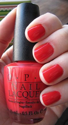 "@Carlee Brom  @Emily Bishman ""poppy"" color mani/pedi's ;)  OPI: tasmanian devil made me do it"