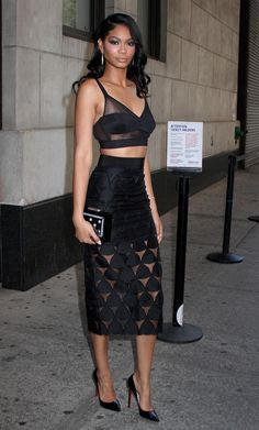 beautyandecstasy:  celebritiesofcolor:  Chanel Iman leaving 'The Wendy Williams Show' in NYC    Bae