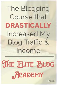 Elite Blog Academy - This course changed my blogging life! I'm now getting over a half million page views per month and my blog earnings have risen substantially, too. In this course, Ruth shares her top secret Pinterest and Facebook marketing plans. It's made all the difference for me, and could for you, too.