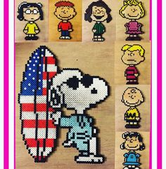 Peanuts perler beads by ssayoriiiii6