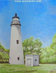 Color Pencil Drawing Ocracoke Island Lighthouse is an original colored pencil drawing by Connie Cruise. - Ocracoke Island Lighthouse is an original colored pencil drawing by Connie Cruise. The art is x frame: 20 x 17 frame included. Hard Drawings, Cool Drawings, Pencil Drawings, Pencil Drawing Tutorials, Drawing Ideas, Drawing Tips, Drawing Skills, Drawing Techniques, Ocracoke Island